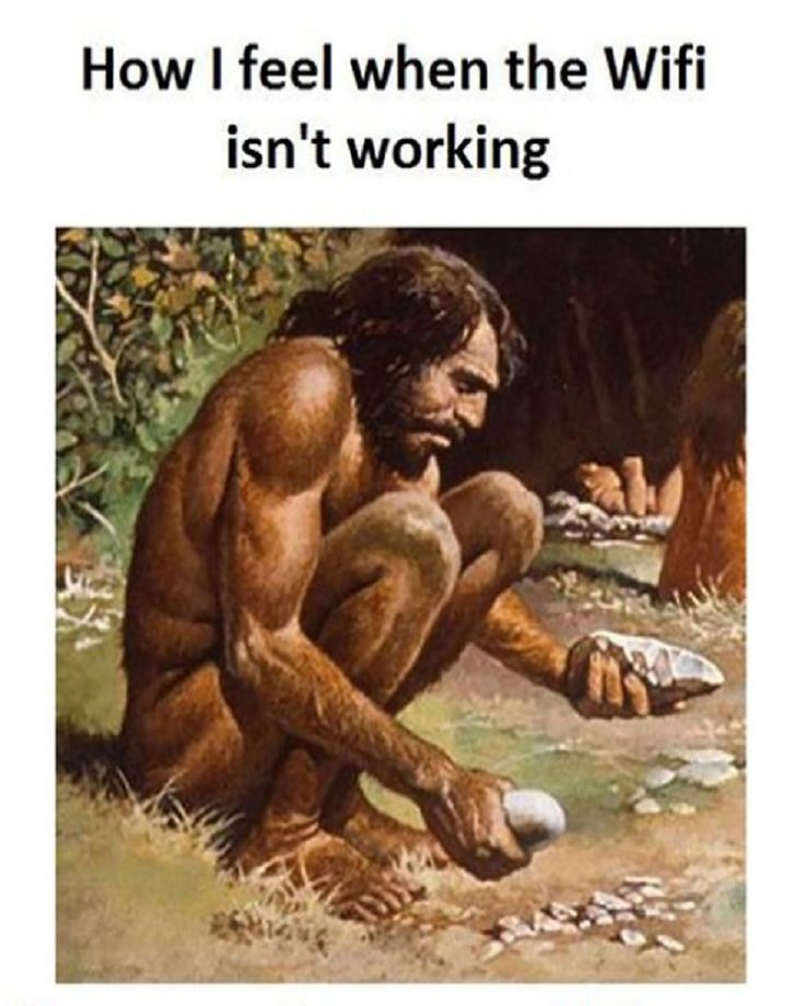 How I feel when a power outage causes the internet to go out. No Wifi means temporarily reliving the stone age...| #Funny #Internet #Picture #Memes