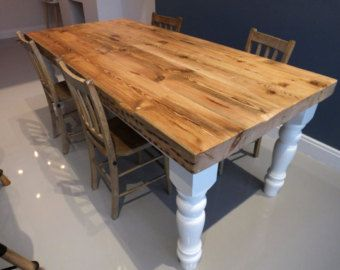 Dining Table Rustic Dining Table Chunky by CadenceWoodwork