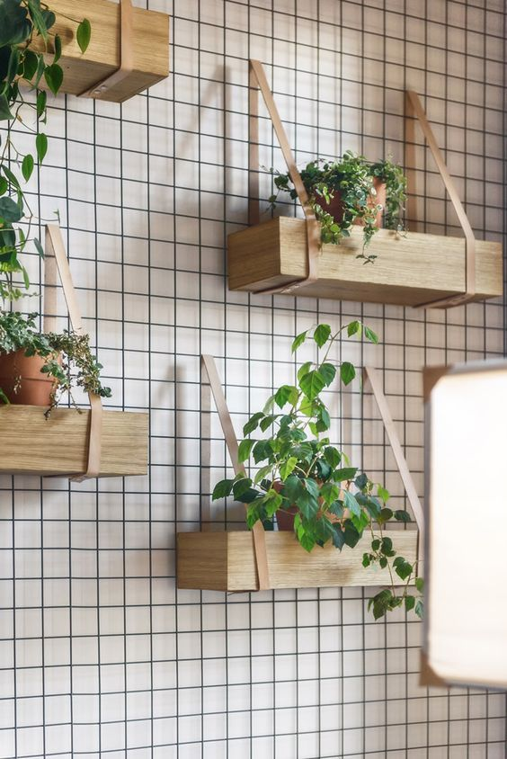 Boxes of plants and/or chotchkes.  I like the idea of giving people things to look at.: