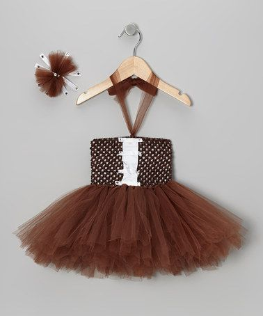 Take a look at this Brown Football Tutu Dress & Bow Clip - Infant by Royal Gem on #zulily today!