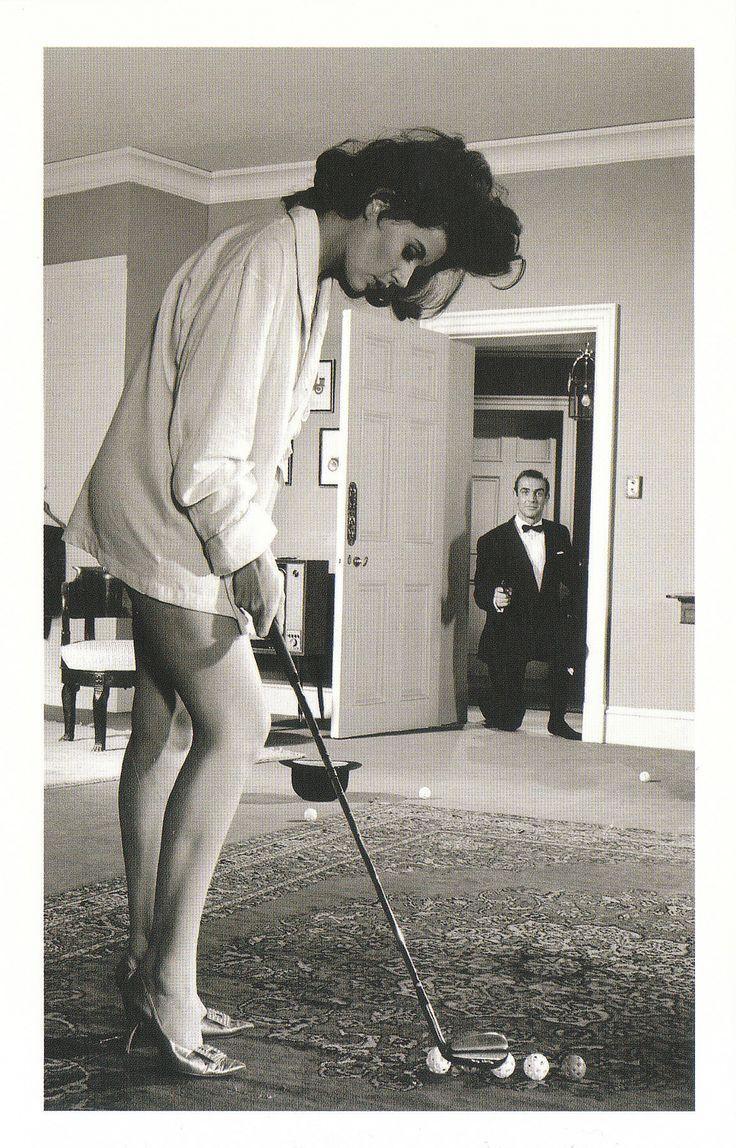 Sylvia Trench (Eunice Gayson) surprises James Bond (Sean Connery) in Dr. No (1962) JAMES BOND