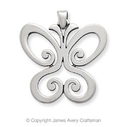 Charlotte's James Avery Butterfly Charm - the butterfly is a symbol of resurrection!
