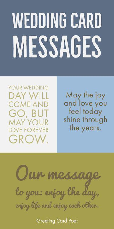 Wedding card wishes, quotes, greetings and messages for the new bride and groom.  Great for greeting cards, Facebook posts, Instagram photo captions and more!