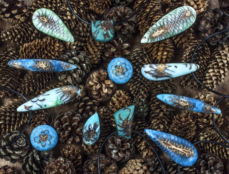 Orangerium Jewellery - pine cones and resin