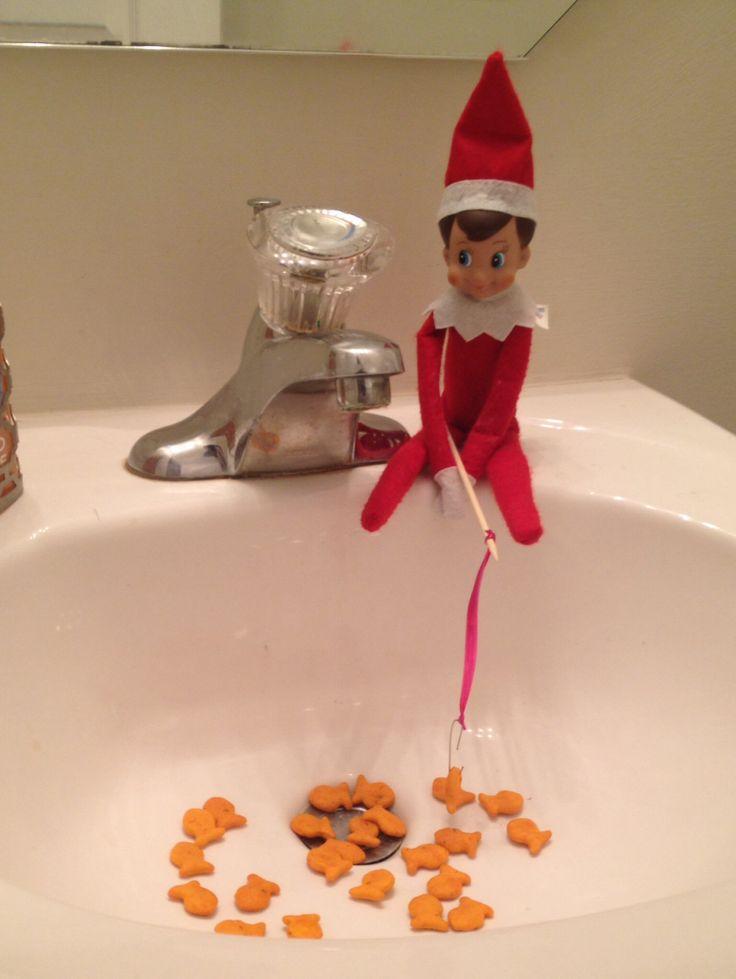 Elf on the shelf gone fishing