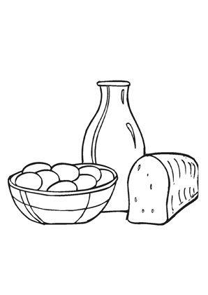 ausmalbild frühstück zum kostenlosen ausdrucken und ausmalen. ausmalbilder | malvorlagen |