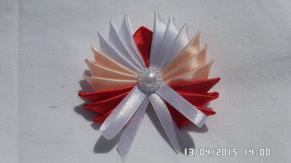 Kanzashi Satin Ribbon Brooch Pin by tianadesign on Etsy