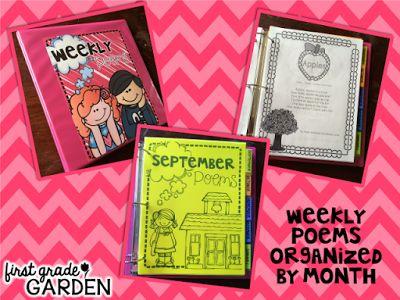 First Grade Garden: Colourful Binder Organization--What's Inside?