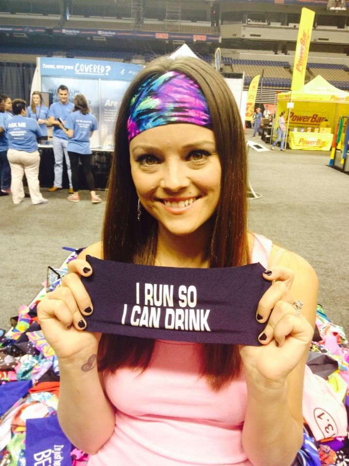 """I RUN SO I CAN DRINK HIPPIERUNNER.COM These """"No Slide - No Sweat"""" headbands stay in place and keep the sweat out of your eyes while working out. Besides working great they are really cute!"""