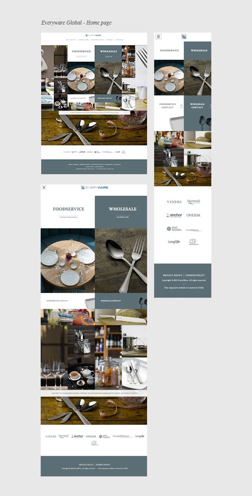 EveryWare Global- Home Page / Project.   Responsive Web Design website. http://www.everywareglobal.co.uk/ by Chilid.