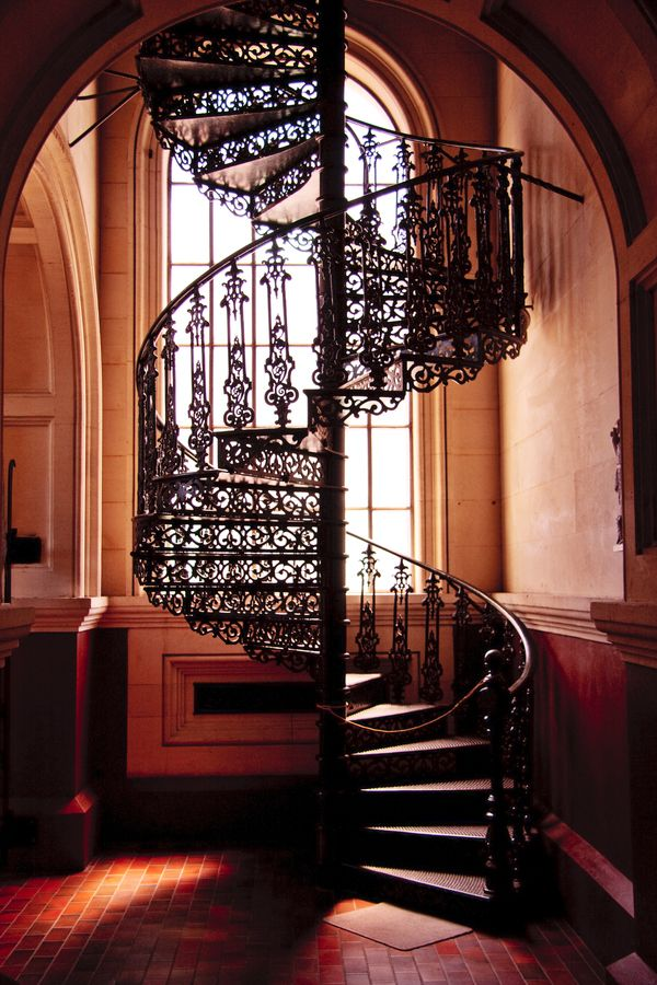 A beautiful spiral staircase from a basilica in Christchurch, New Zealand