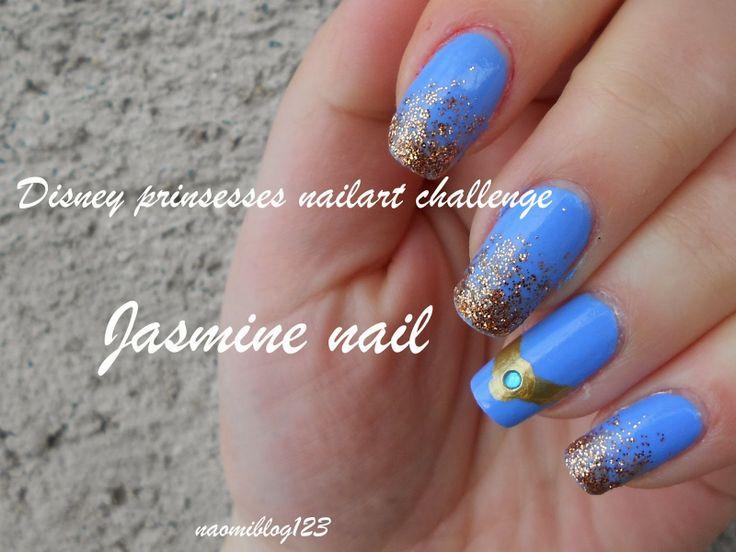 NaomiBlog avagy Noémi körmei, Jasmine nail, Disney, Disney Princess Nailart Challenge,