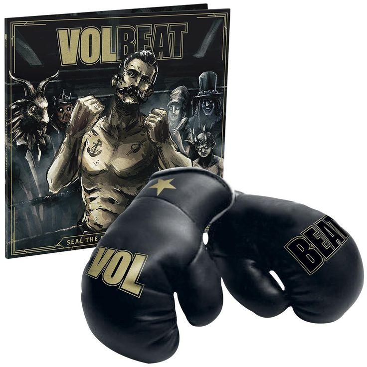 """L'album dei #Volbeat intitolato """"Seal The Deal & Let's Boogie"""" su doppio CD con guantoni da box inclusi."""