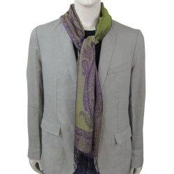 Neck Scarf Men Fashion Silk Jacquard Paisley Patterns 14 x 65 inches