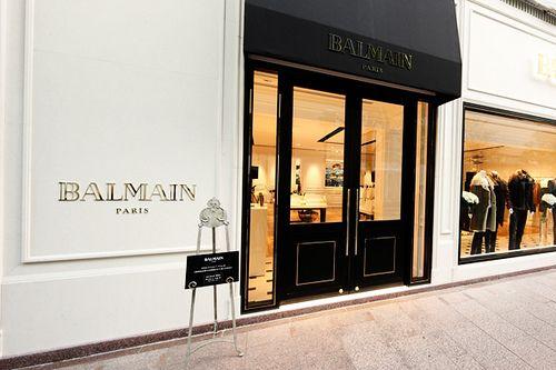 Balmain new store in Ginza, Tokyo _