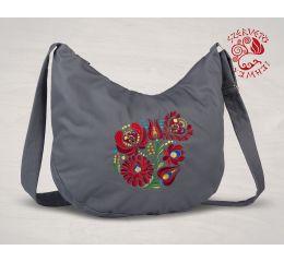 Szervető-matyó félhod táska - szürke