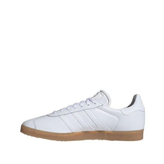 Baskets cuir gazelle blanc Adidas Originals   La Redoute