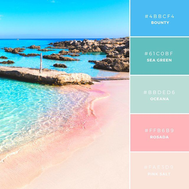 Balearic Bounty. Pastels represent femininity and have association with springtime. This powdery palette has tones reminiscent of candy floss, therefore a lovely combination for anything related to sweets or floristry.