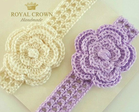 Baby headbands,baby headband,baby head bands,crochet baby headband,headband for twins,baby girl headband,head bands for girls,knit headband by RoyalCrownHandmade on Etsy