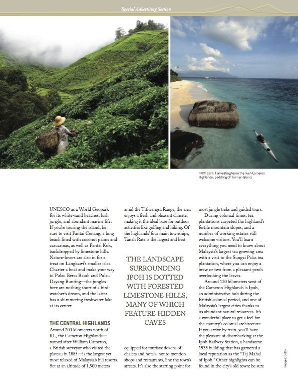 DestinAsian Magazine  Special Advertising Section Tourism Malaysia