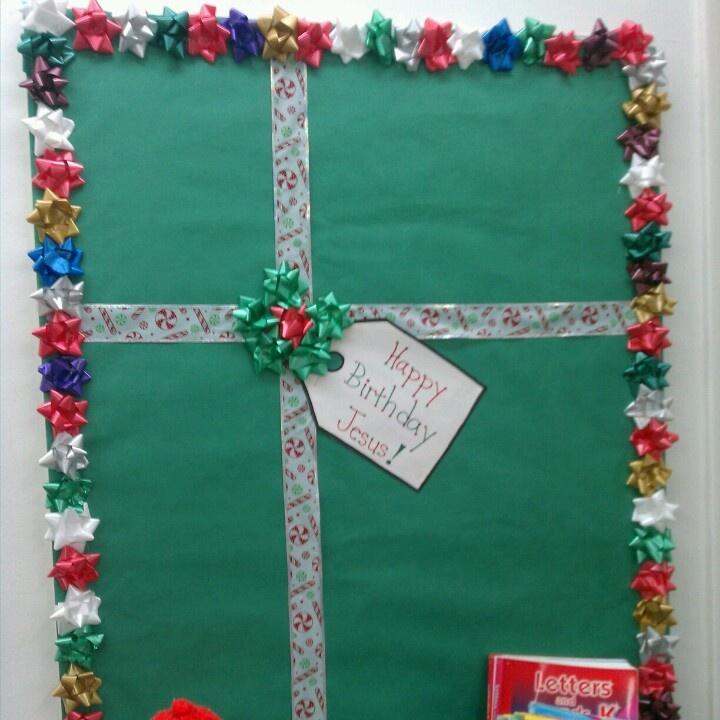 Present for Jesus bulletin board - Christmas
