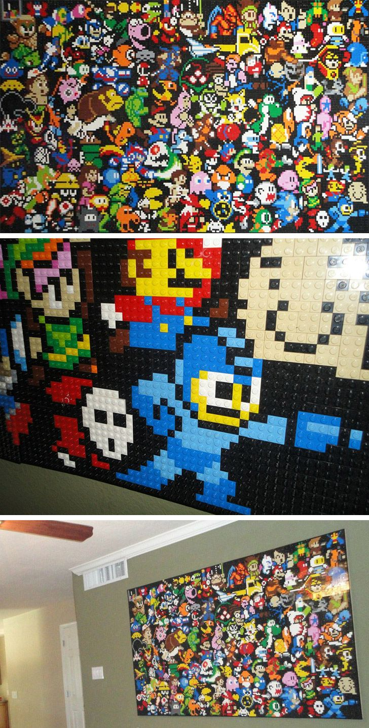A classic gaming LEGO mosaic.