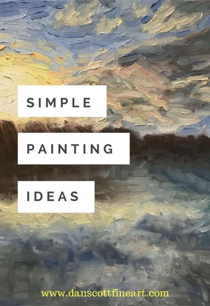 Simple oil & acrylic painting ideas for beginners.