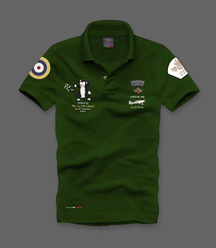 MM003H  Polo dedicated to the Fl.Lt.Gleed's Battle of Britain Hawker Hurricane