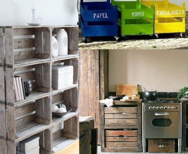 costruire mobili con materiale di riciclo idee fai da te