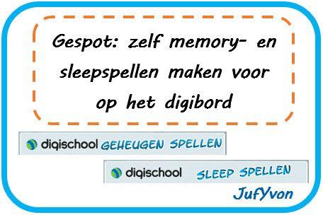 ©JufYvon: Gespot: zelf memory- en sleepspellen maken voor op het digibord