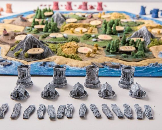 3D 'Ultimate Catan' SET Inc. Seafarers and Cities by CatanCustoms, £110.00