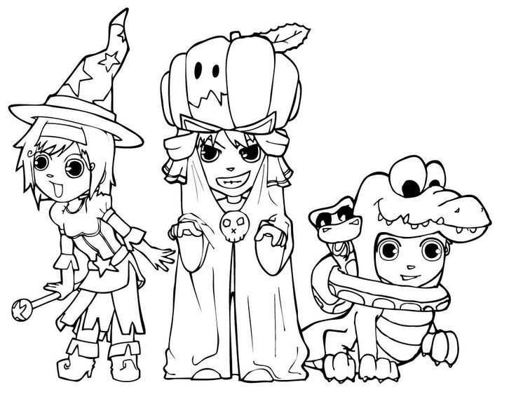 Dress up witch halloween coloring