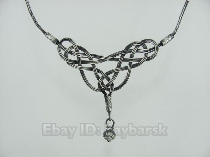 Turkish Kazaziye Infinity Knot Necklace Handmade Antiqued Silver Hurrem Ottoman in Jewelry & Watches, Fine Jewelry, Fine Necklaces & Pendants | eBay