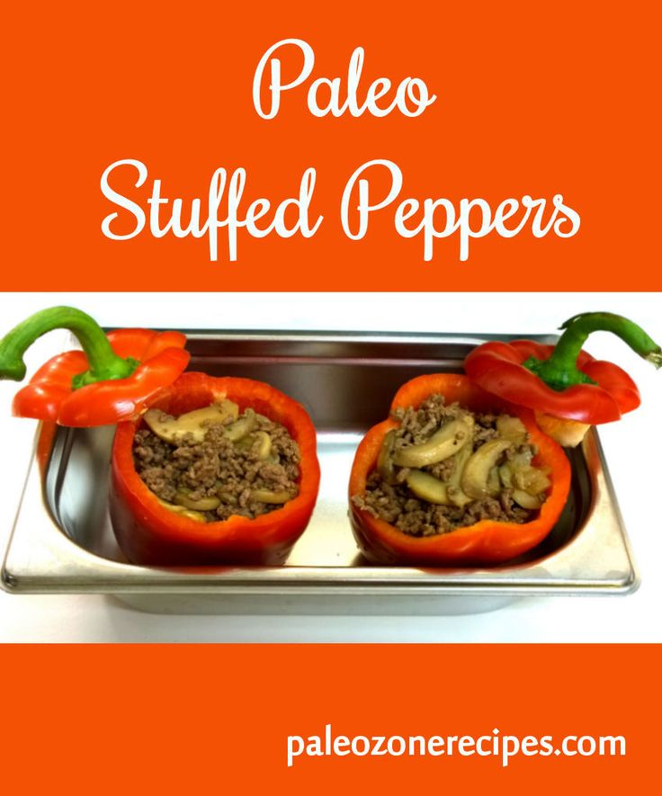 Paleo Stuffed Peppers Recipe http://www.paleozonerecipes.com/paleo-lunch-ideas/paleo-stuffed-peppers-recipe/ #paleo #recipes
