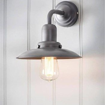 Hobury Wall Light in Charcoal - Steel