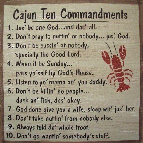 Cajun 10 Commandments Humerous Country Rustic Primitive Sign Home Decor #Handmade #rustic252primitive