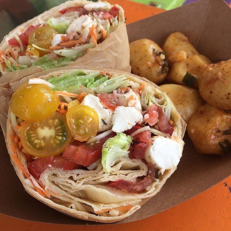 Chapatti roll du jour : légumes du soleil et mozzarella