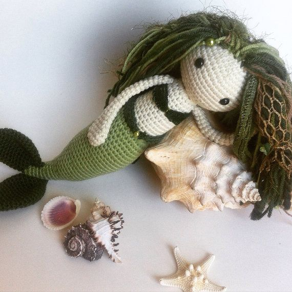I believe in mermaids....     Crochet Mermaid Doll by EclecticJ.  #handmade #crochet #amigurumi