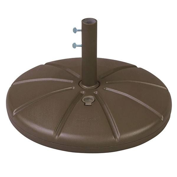 21 Round X 13 High 100 Resin Must Fill With Sand Or Water 35 To 40 Lbs When Filled Two Thumb Screws To Anchor Umbrella Pole Ava Umbrella Resin Bronze