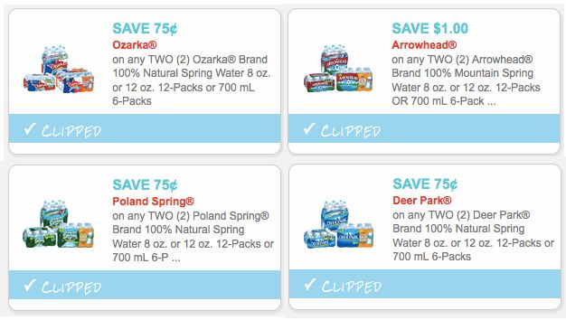 SIX Bottled Water Coupons: Save on Ozarka, Deer Park, Poland Springs, Zephyrhills & More – Hip2Save