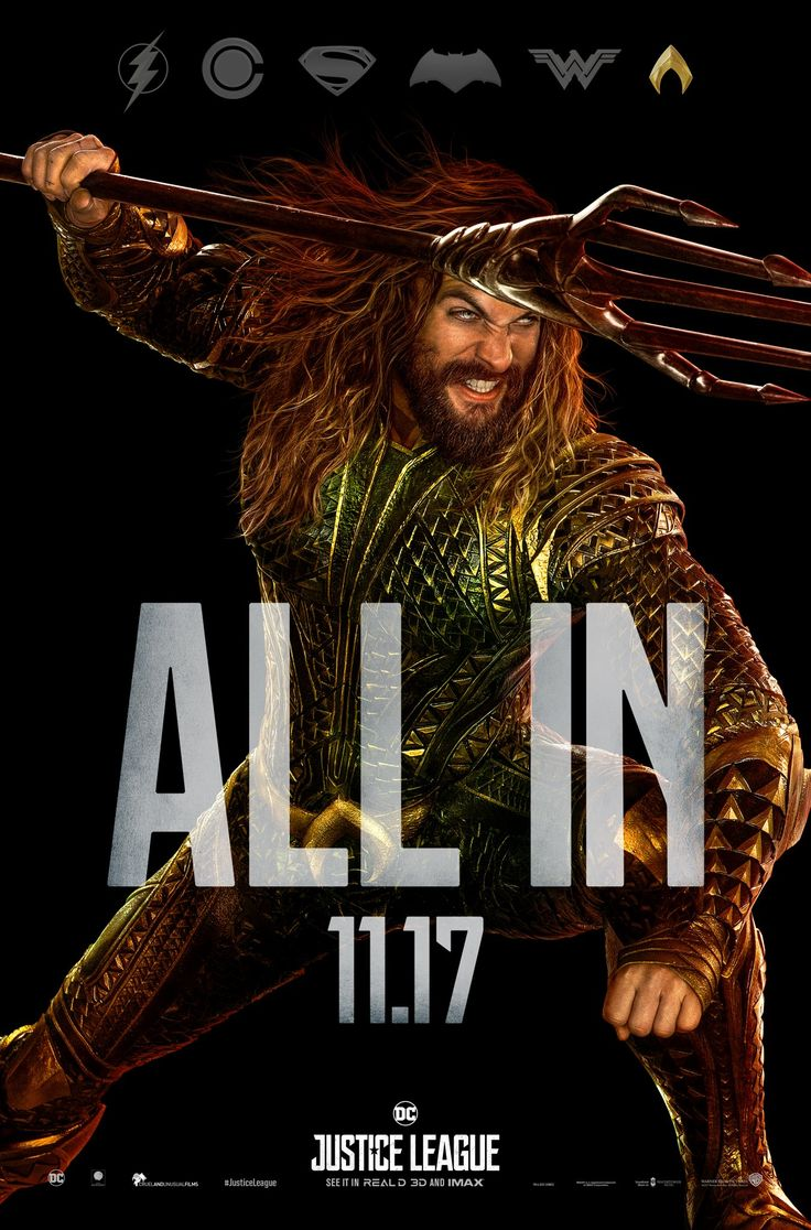 """""""#Aquaman is ALL IN. New #JusticeLeaguetrailer coming Sunday."""""""
