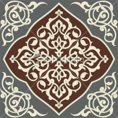 Arabesque Tile Royalty Free Stock Vector Art Illustration