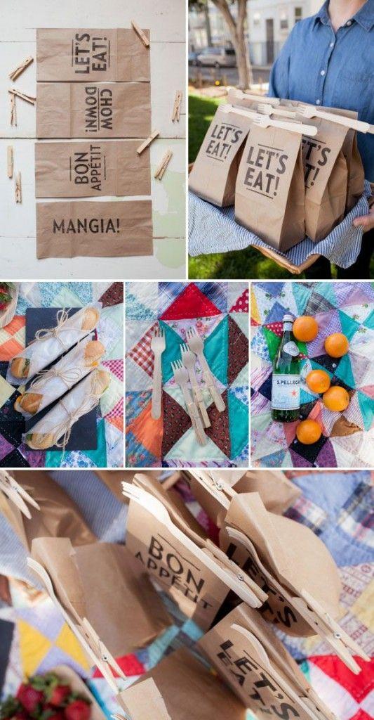 picnic paper bags
