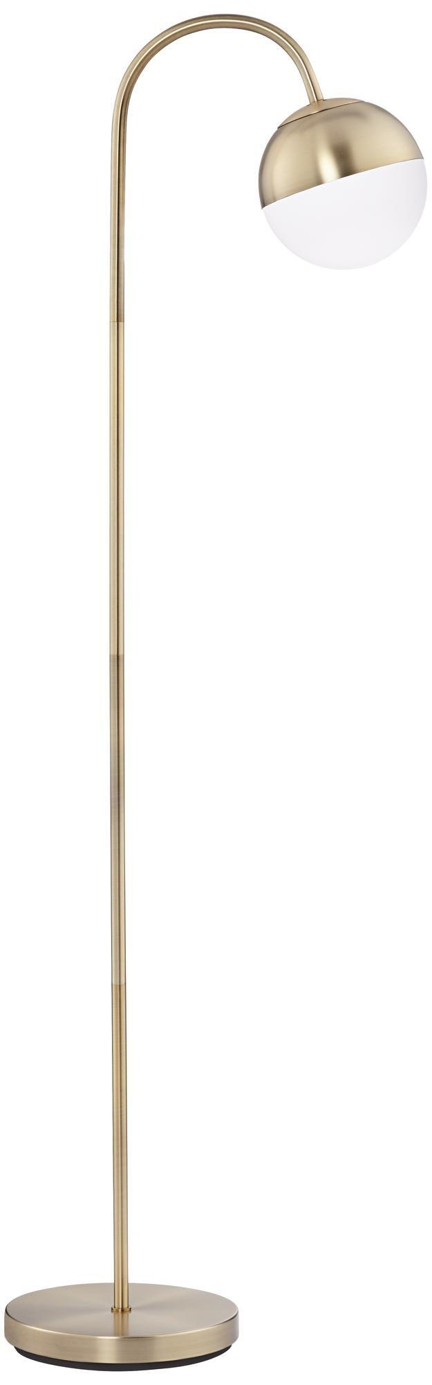 Carlton Globe Brass Finish LED Floor Lamp - #15A06   Lamps Plus