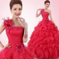 Wish   (US SIZE) Romantic Colorful Organza A line Beading Ruched Quinceanera Dresses Beautiful Party Wedding Dress Ball Gown
