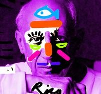Picasso has been masked by artist Rico Ovadia