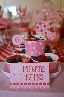 ballerina berries - angelina ballerina party
