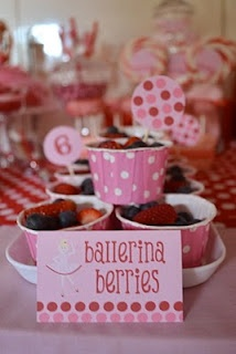 ballerina berries - angelina ballerina party - love this way more than cupcakes :)