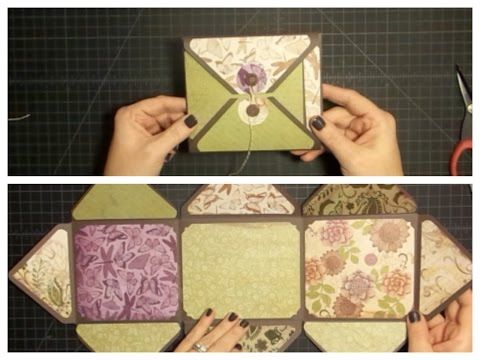 Envelope Explosion Mini Album Using the Envelope Punch Board - YouTube