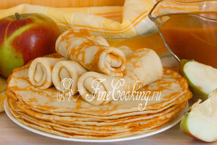 Яблочные блинчики - рецепт с фото